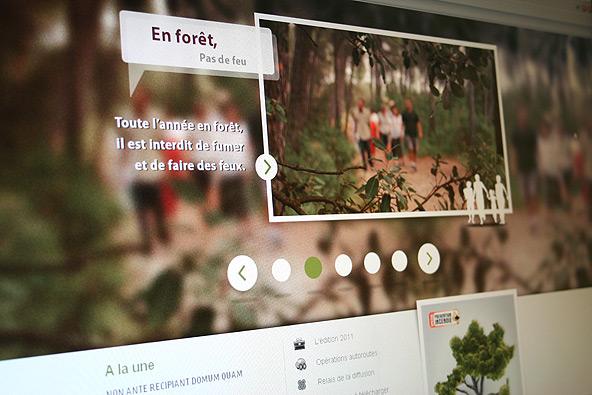 Lancement du site internet sur la prévention des incendies de forêt