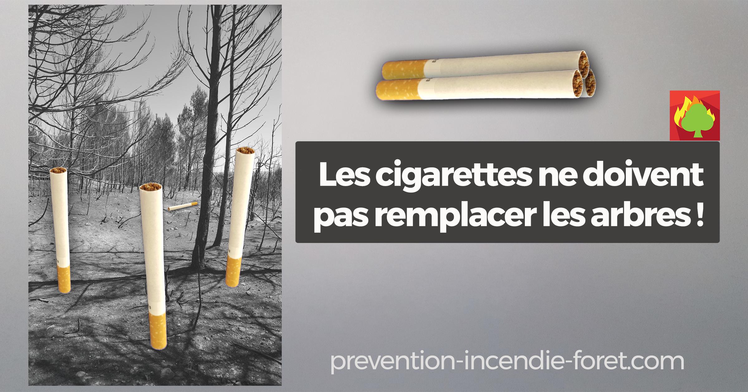 Les cigarettes ne doivent pas remplacer les arbres !