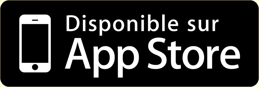 Application disponible sur AppStore